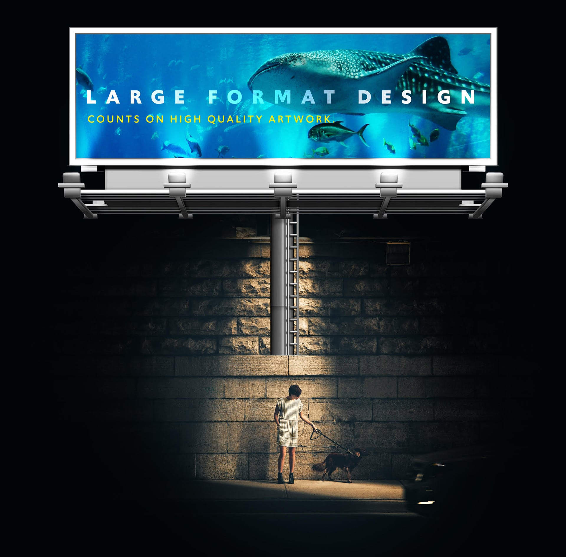 Designs for large format printing